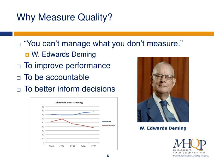 Why Measure Quality?