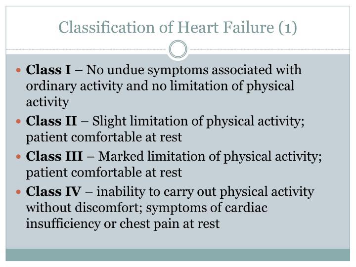 Classification of Heart Failure (1)
