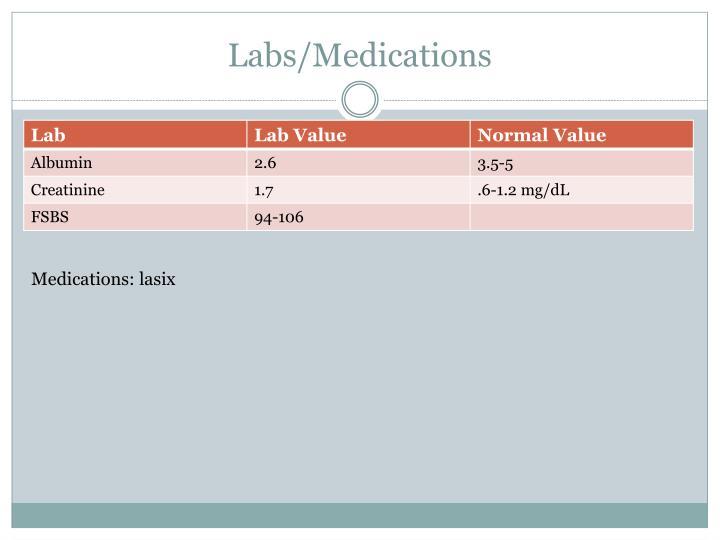 Labs/Medications