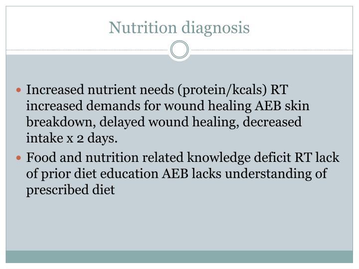 Nutrition diagnosis