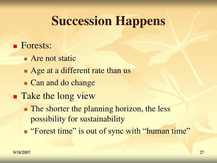 Succession Happens