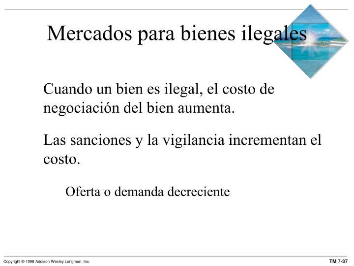 Mercados para bienes ilegales