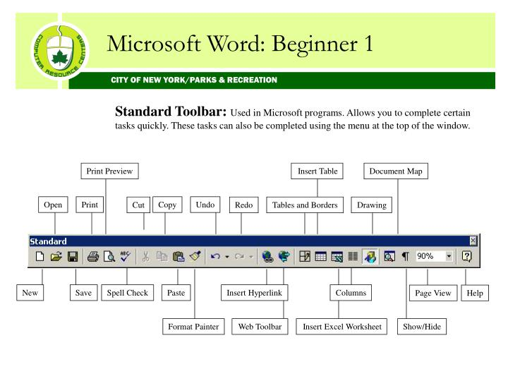 Microsoft Word: Beginner 1