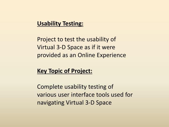 Usability Testing: