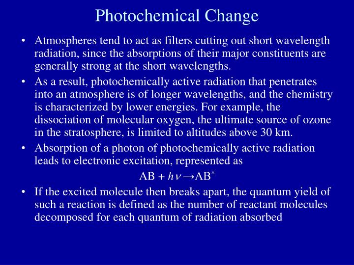 Photochemical Change