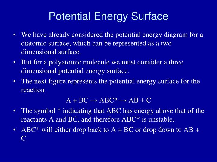 Potential Energy Surface