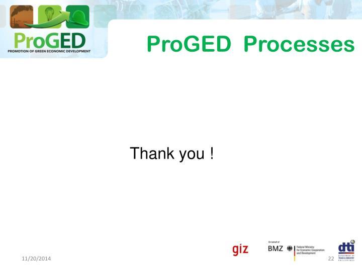 ProGED  Processes