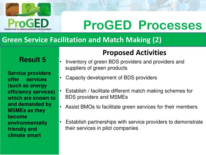 Green Service Facilitation and Match Making (2)