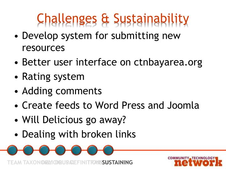 Challenges & Sustainability