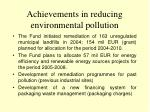 achievements in reducing environmental pollution1
