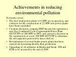 achievements in reducing environmental pollution3