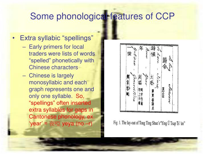 Some phonological features of CCP