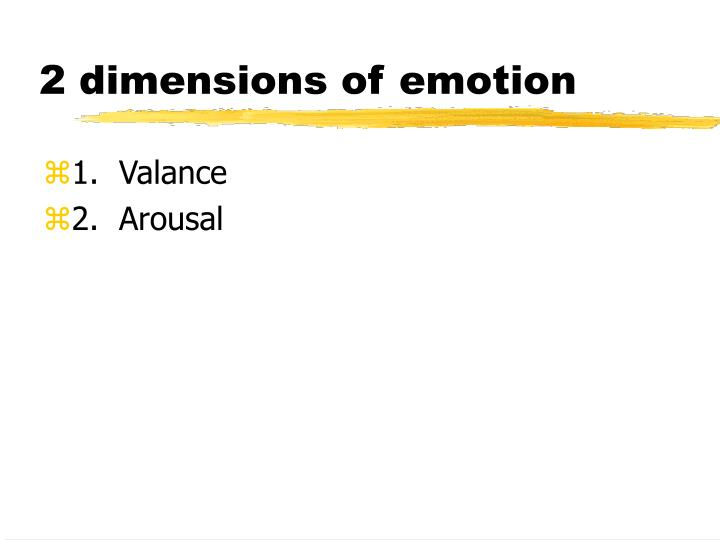 2 dimensions of emotion