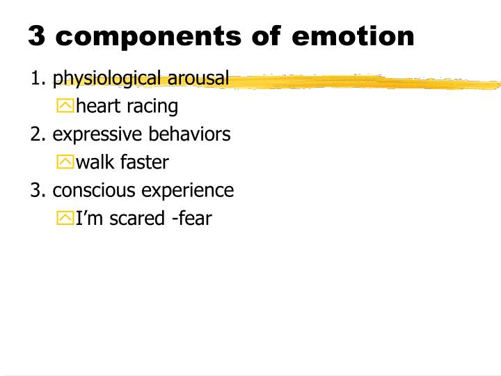 3 components of emotion
