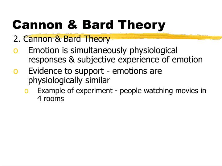 Cannon & Bard Theory