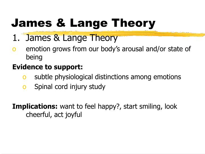 James & Lange Theory