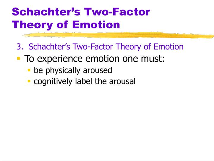Schachter's Two-Factor Theory of Emotion