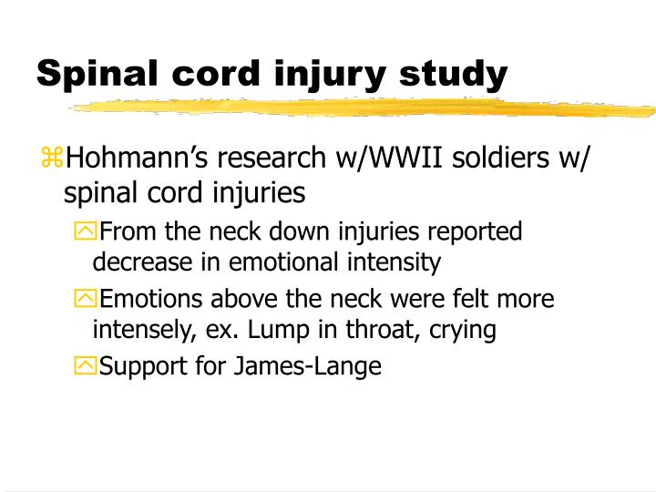 Spinal cord injury study