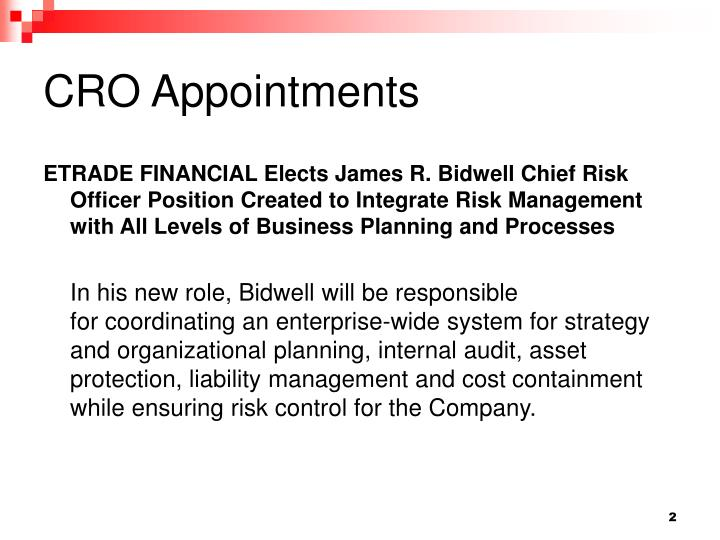 CRO Appointments