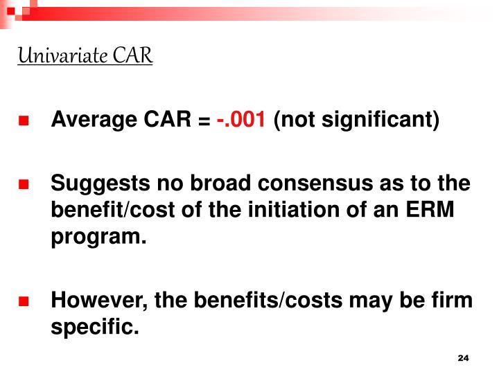 Univariate CAR