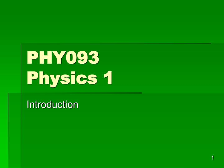 PHY093
