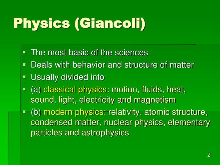 Physics (Giancoli)