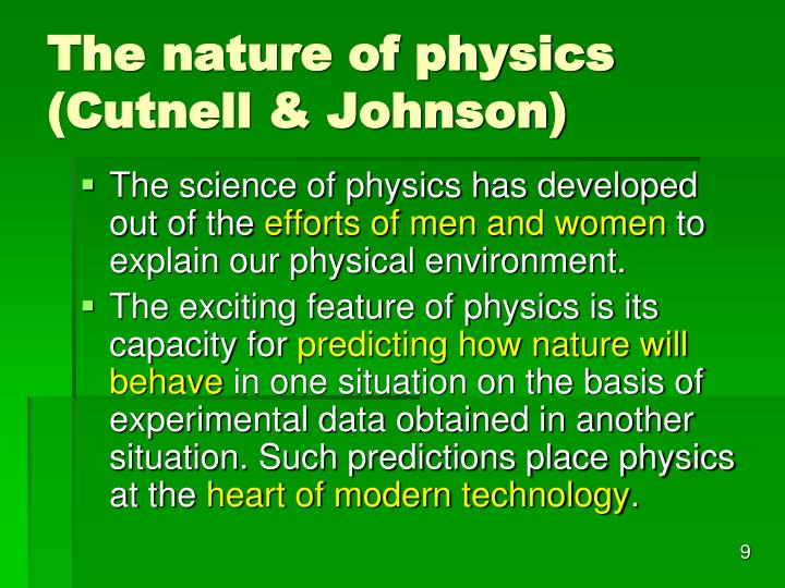 The nature of physics