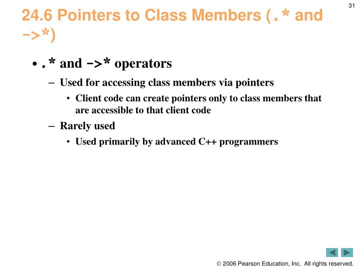 24.6 Pointers to Class Members (