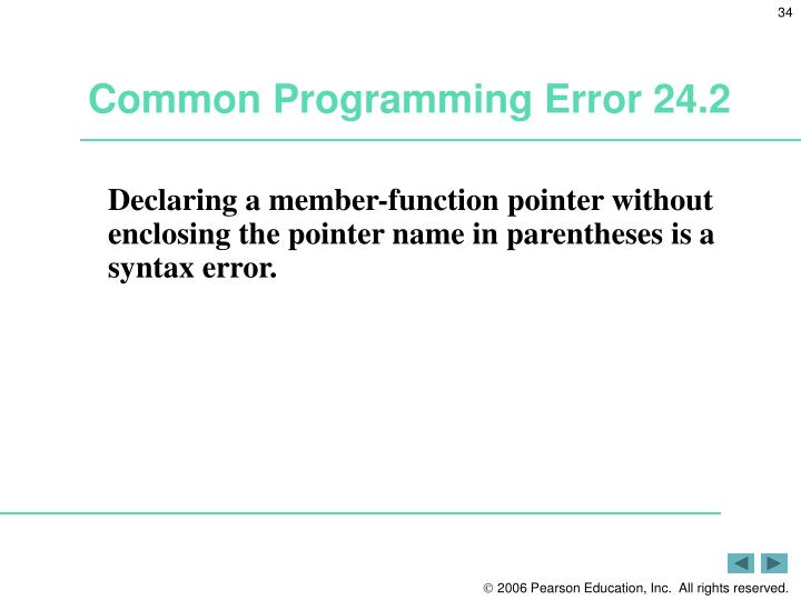 Common Programming Error 24.2