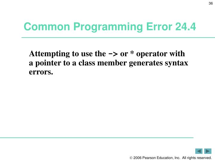 Common Programming Error 24.4