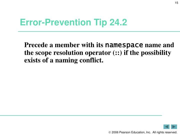 Error-Prevention Tip 24.2