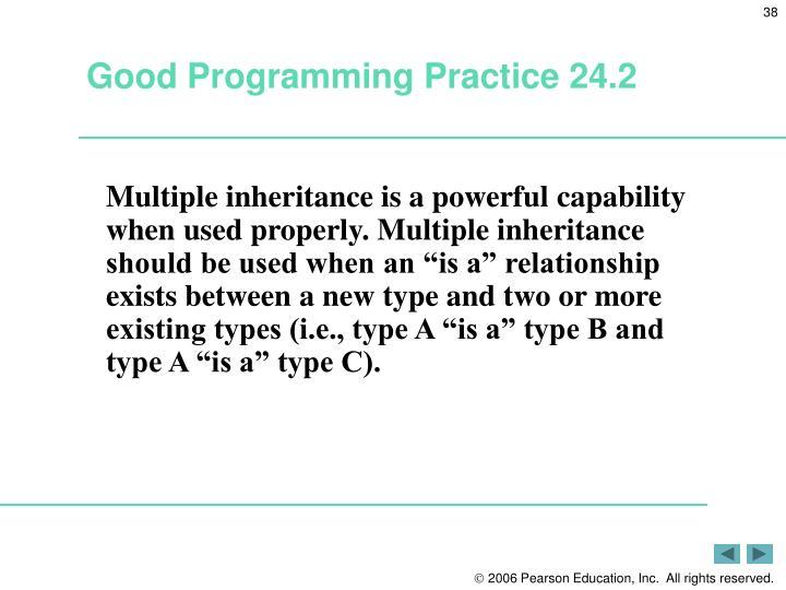 Good Programming Practice 24.2