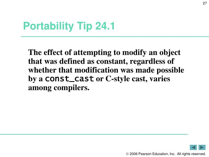Portability Tip 24.1