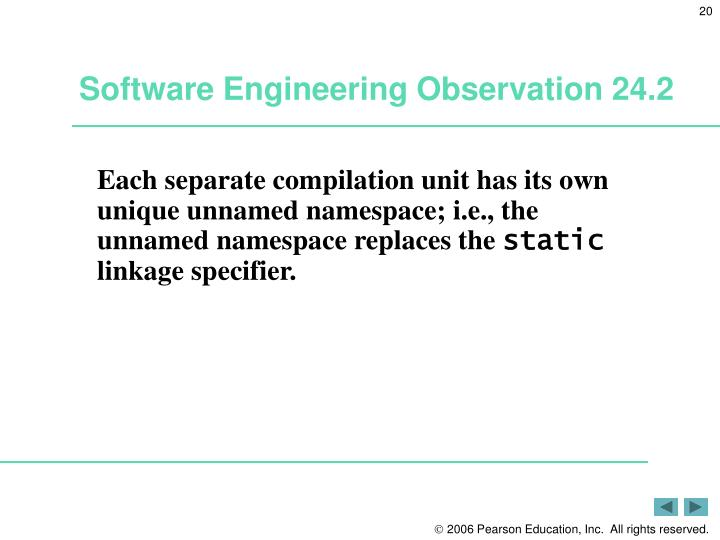 Software Engineering Observation 24.2