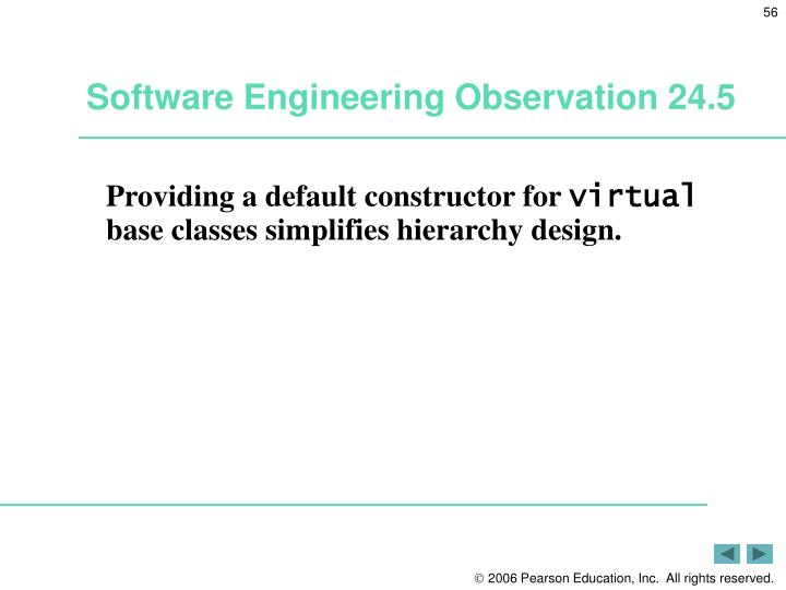 Software Engineering Observation 24.5