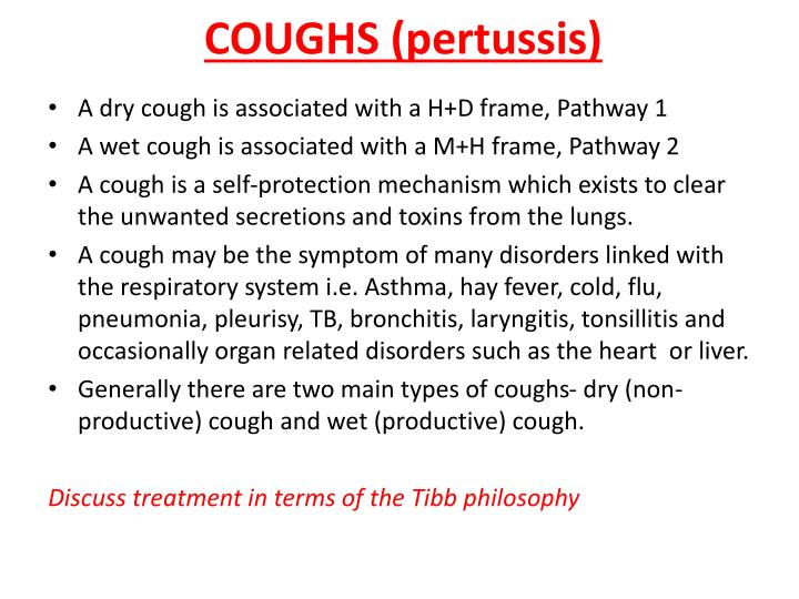 COUGHS (pertussis)