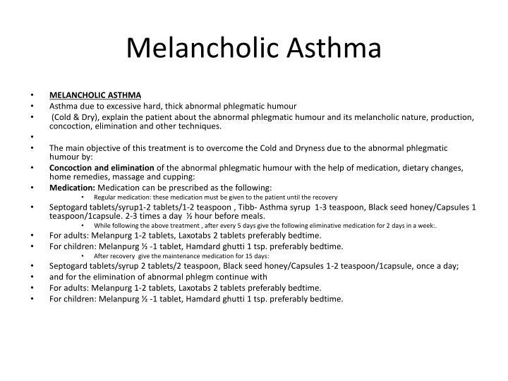 Melancholic Asthma