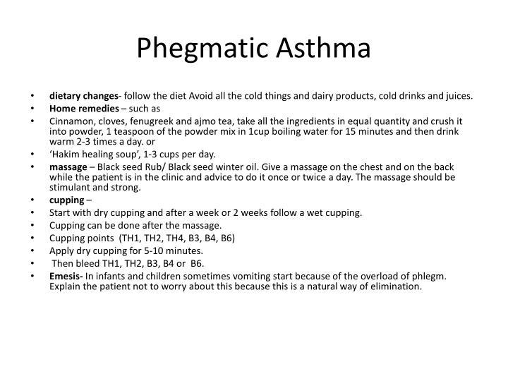 Phegmatic Asthma