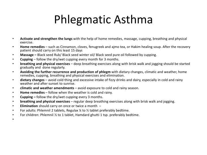 Phlegmatic Asthma