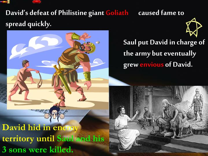 David's defeat of Philistine giant