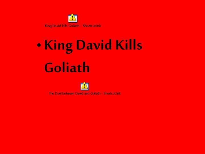 King David Kills Goliath