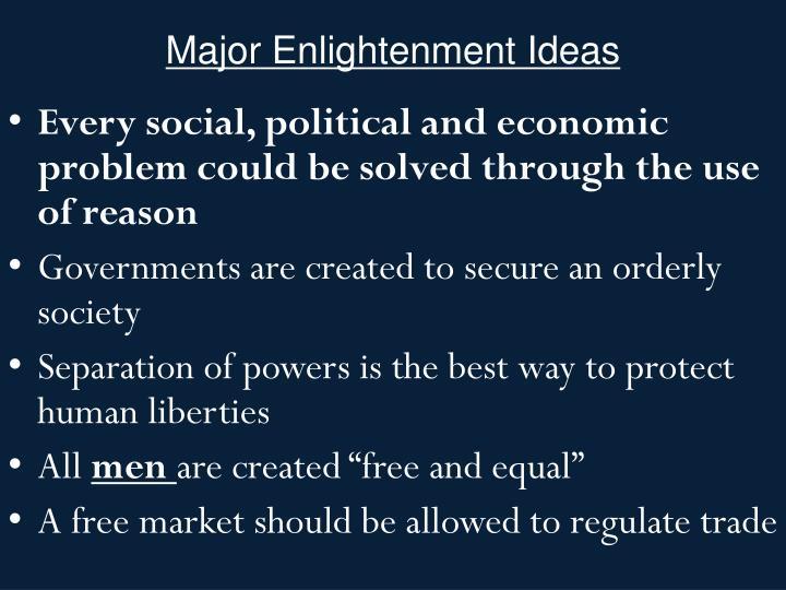 Major Enlightenment Ideas