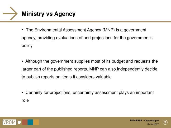 Ministry vs Agency