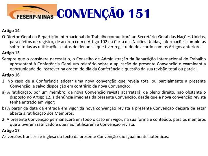 CONVENÇÃO 151