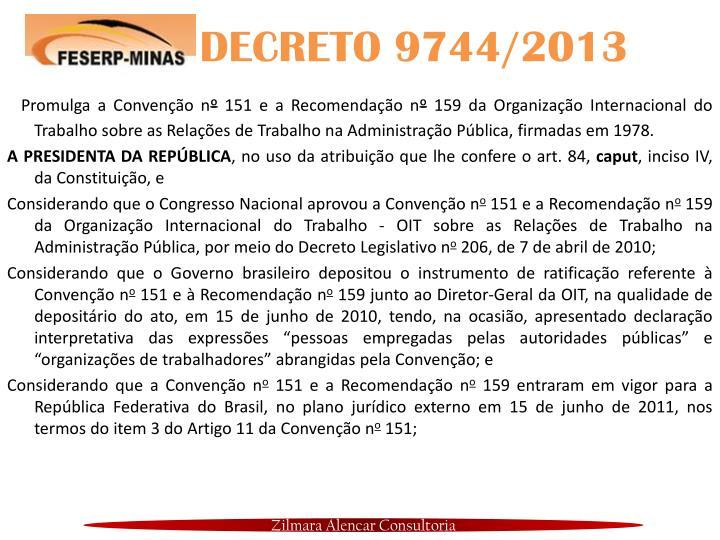 DECRETO 9744/2013
