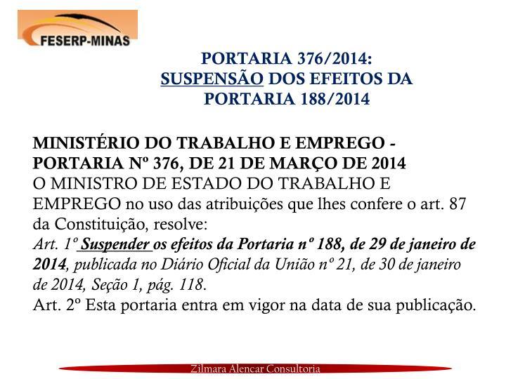 PORTARIA 376/2014: