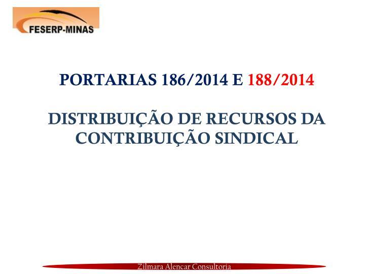 PORTARIAS 186/2014 E