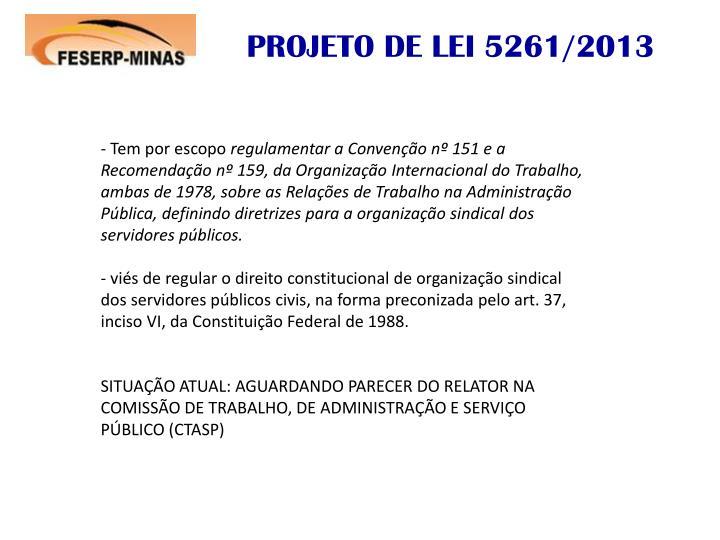 PROJETO DE LEI 5261/2013