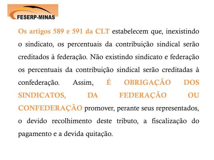 Os artigos 589 e 591 da CLT