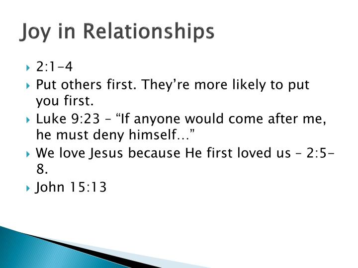 Joy in Relationships